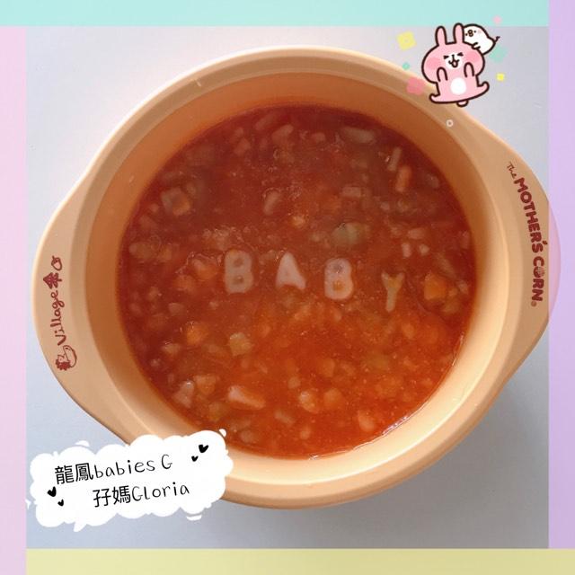 [BB食譜]-紅菜頭雜菜湯字母粉