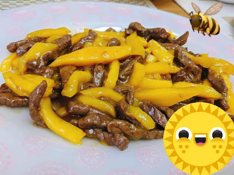 芒果炒牛柳絲
