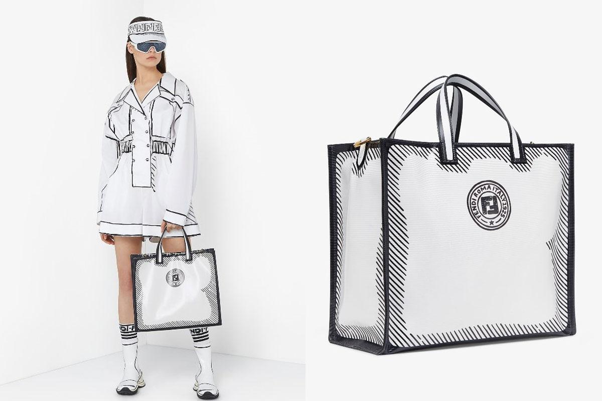 【2021 Tote Bag推介】精選20個名牌大熱款式返工袋 | 百搭易襯OL必備 2021Tote Bag返工袋推介Fendi California Sky