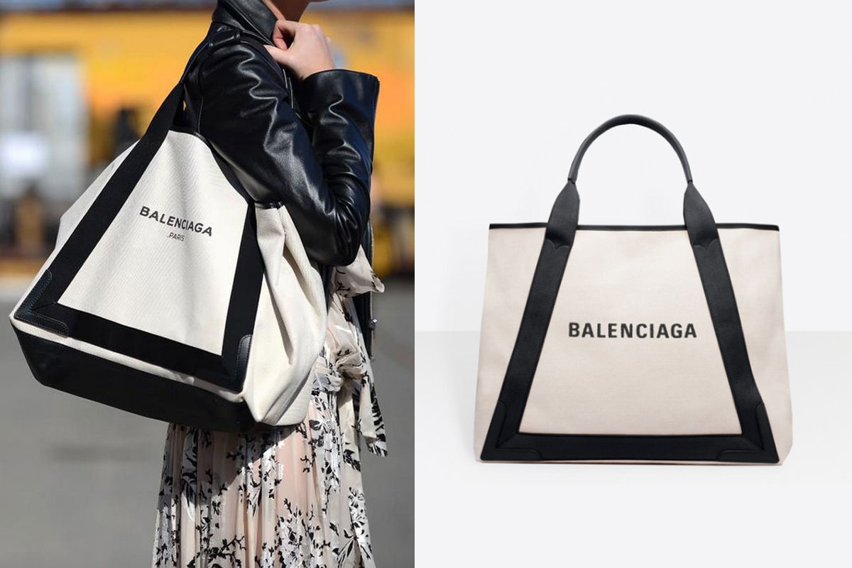 【2021 Tote Bag推介】精選20個名牌大熱款式返工袋 | 百搭易襯OL必備 2021Tote Bag返工袋推介Balenciaga NAVY MEDIUM CABAS