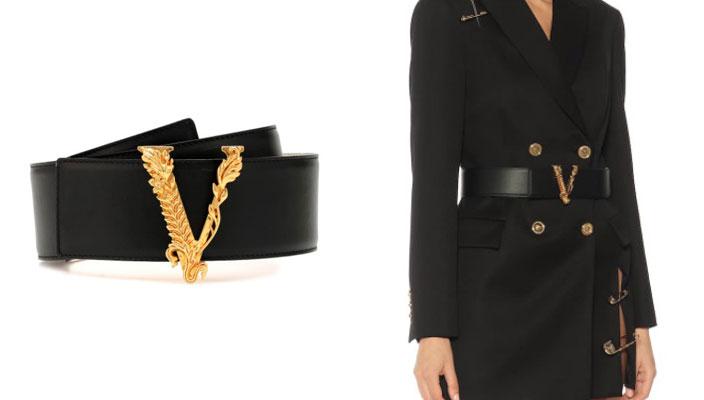【秋冬必備潮流單品】時尚KOL顯瘦穿搭秘訣!18款入門級時尚品牌LOGO皮帶 SAINT LAURENT Embellished leather belt