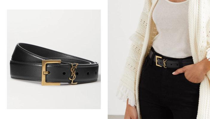 【秋冬必備潮流單品】時尚KOL顯瘦穿搭秘訣!18款入門級時尚品牌LOGO皮帶 CHLOÉ Snake C-buckle leather waist belt