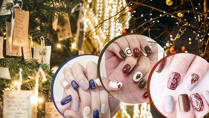 【2020聖誕gel甲】嚴選42款節日氣氛美甲款式丨復古花磚指甲彩繪丶輕奢華酒紅美甲款
