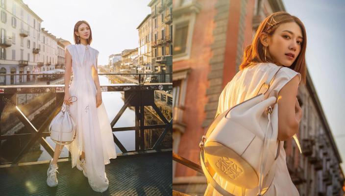 【白色手袋 2021】 跟女神及KOL入手純白色手袋  氣質即時提升! Loewe Balloon 白色手袋