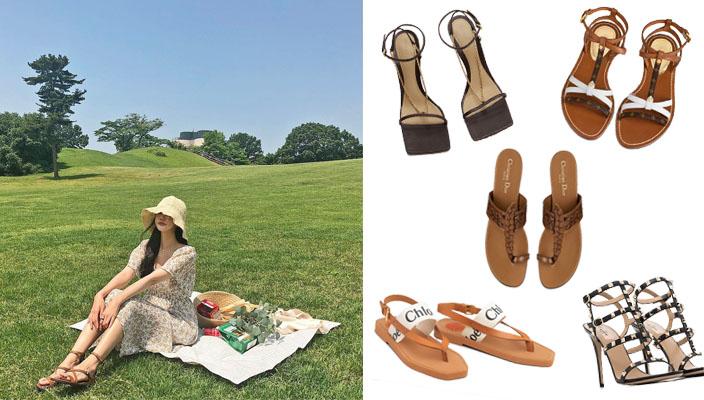 春夏穿搭2021丨時尚名牌高跟涼鞋丶露趾鞋推介!涼鞋穿搭風格教學