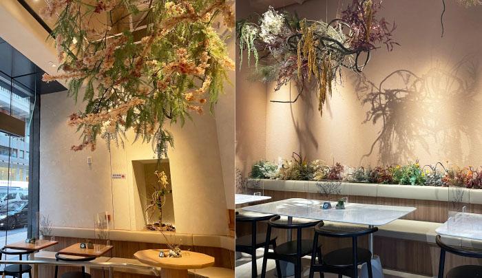 灣仔拍拖好去處丨情侶必去花藝打卡Café!食買玩一日遊行程推介 蜿蜒扭曲的樹藤裝置—以抽象的方式展現了扎根在香港的古樹樹根。