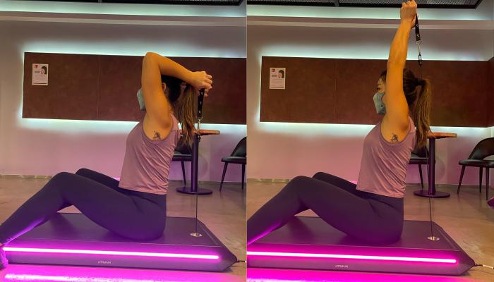 情侶減肥運動丨必試空中雙人瑜伽丶彈床!情侶運動用品推介 教練動作示範#1. 針對手臂拜拜肉