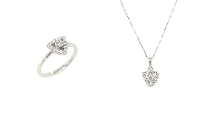 【九月珠寶展】平價入手性價比高優質鑽石、珠寶首飾!8間人氣參展商推介 左:18K白金鑽石戒指|右:18K白金鑽石吊墜連鏈(16吋)九月珠寶展參展商推介#3:Fook Tai Jewelle