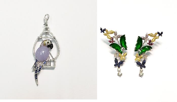 【九月珠寶展】平價入手性價比高優質鑽石、珠寶首飾!8間人氣參展商推介 左:Parrot|右:Dancing Butterfly九月珠寶展參展商推介#8:Akima Jewellery (B