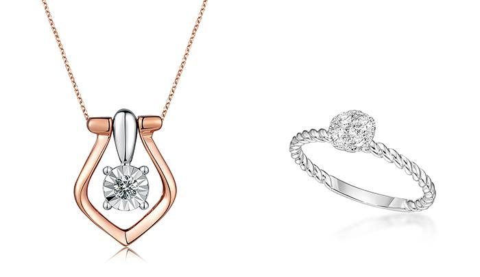 【九月珠寶展】平價入手性價比高優質鑽石、珠寶首飾!8間人氣參展商推介 左:「珍惜」18K/750白、玫瑰兩色鑽石吊墜右:圓夢系列- 18K白金鑽石戒指九月珠寶展參展商推介#4:G S Je