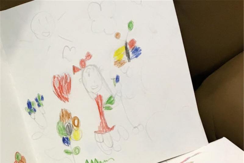 孩子心事難開口  林嘉欣讓女兒憑畫寄意
