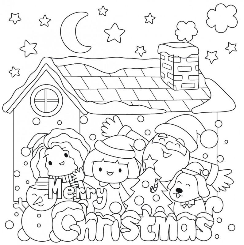 【親子DIY聖誕卡】10款馴鹿、雪人、聖誕樹填色圖畫免費下載