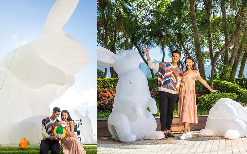 【發光巨兔迎中秋】利東街中港城兼映LED舞火龍、旗袍漫遊體驗