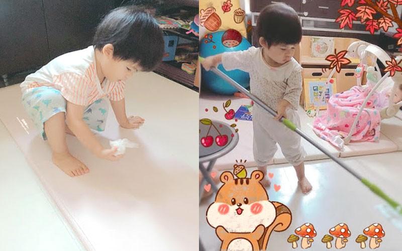 【停課抗疫】孩子學自理能力  家務當作遊戲鼓勵1歲起開始做家務