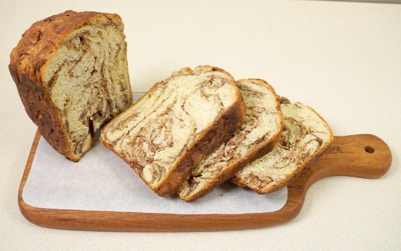 【麵包機滋味食譜】香蕉朱古力雲石麵包