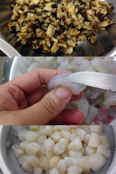 自家製足料點心:帶子蝦仁豬肉燒賣
